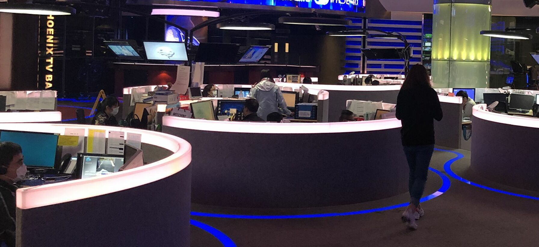 Newsroom remains busy, but masks become a must. Hong Kong amid COVID-19 pandemic