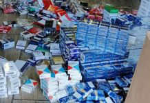 Shop owner nabbed with R750k worth of illicit cigarettes, Lephalale. Photo: SAPS