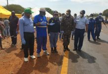 COVID-19 operations: Minister Cele and entourage visit the North West. Photo: SAPS