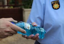 AfriForum donates hand sanitizer to Gauteng police stations. Photo: AfriForum