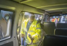 Scientology Volunteer Ministers: Special guest - Gauteng MEC for Transport - joins in for sanitizing