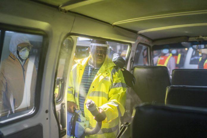 Scientology Volunteer Ministers: Special guest - Gauteng MEC for Transport - joins in for sanitizing