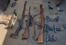 Spate of murders: 9 Firearms seized, 10 suspects arrested, Amangwe. Photo: SAPS