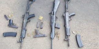 Eight firearms seized during police operations, KZN. Photo: SAPS