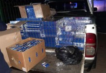 Illicit cigarettes and alcohol recovered after 2 car chases, Limpopo. Photo: SAPS