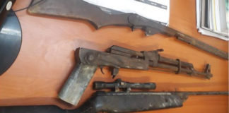 Shots fired during theft of livestock, 3 teens arrested with firearms, Qumbu. Photo: SAPS