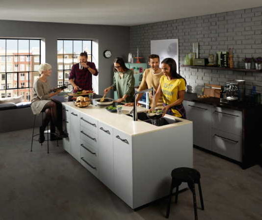 Hansgrohe is heating up the kitchen with exquisite form and functionality of modern sinks and mixers!