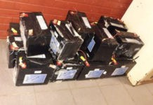 Vehicle seized with stolen tower batteries, Eshowe. Photo: SAPS