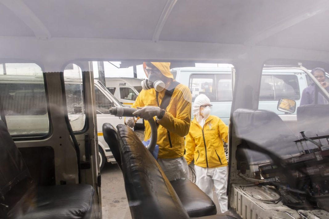 Buses and Taxis Sanitized to Protect Millions