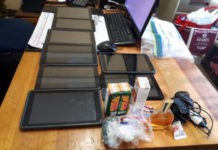 School burglary, 3 arrested, tablets recovered, Verulam. Photo: SAPS