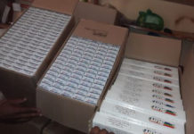 Cigarettes, dagga, vehicles and cash seized at Telle bridge port of entry. Photo: SAPS