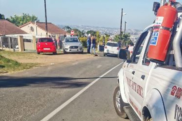 Man hacked multiple times with a sword, Trenance Park, Durban. Photo: RUSA