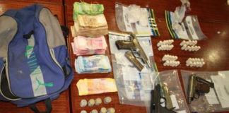 Anti-Gang unit recover guns and drugs, Bishop Lavis. Photo: SAPS