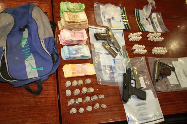 Anti-Gang unit recover guns and drugs, Bishop Lavis. Photo: SAPS