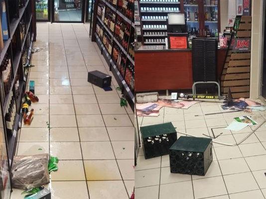 Bottle store burglary, Bothasig, CT. Photo: SAPS