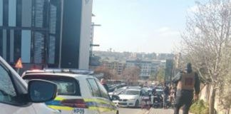 Mall bank robbery, suspect critical after being shot, Centurion. Photo: Arrive Alive