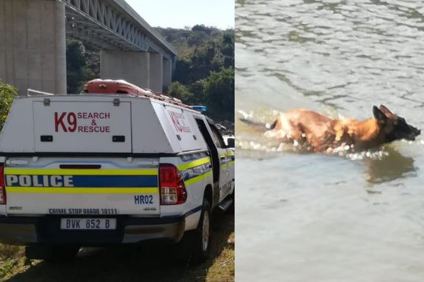 Search and Rescue Unit search for Doringkop murder victim, Tugela river. Photo: SAPS