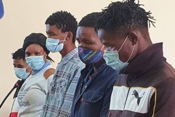 Magogong farm murderers appear in court - remanded in custody. Photo: Oorgrens Veiligheid