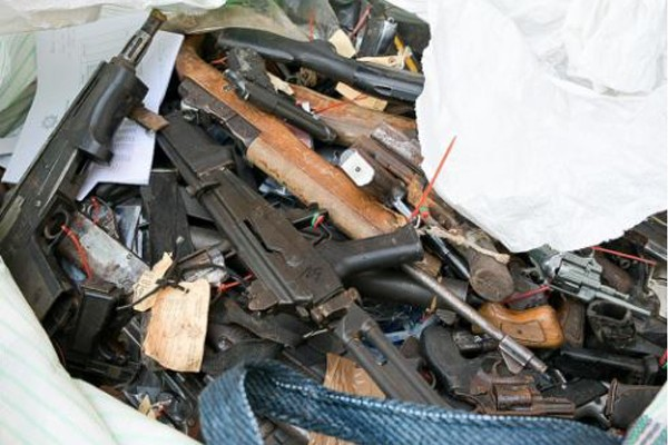 SAPS destructs and melts over 30 thousand firearms. Photo: SAPS