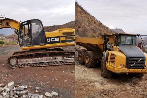 Illegal mining: Equipment and chrome worth millions seized. Photo: SAPS