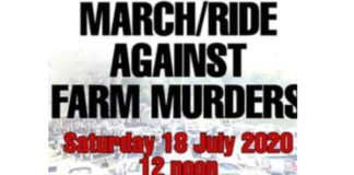 March, ride against farm attacks and murders in South Africa - 18 July 2020