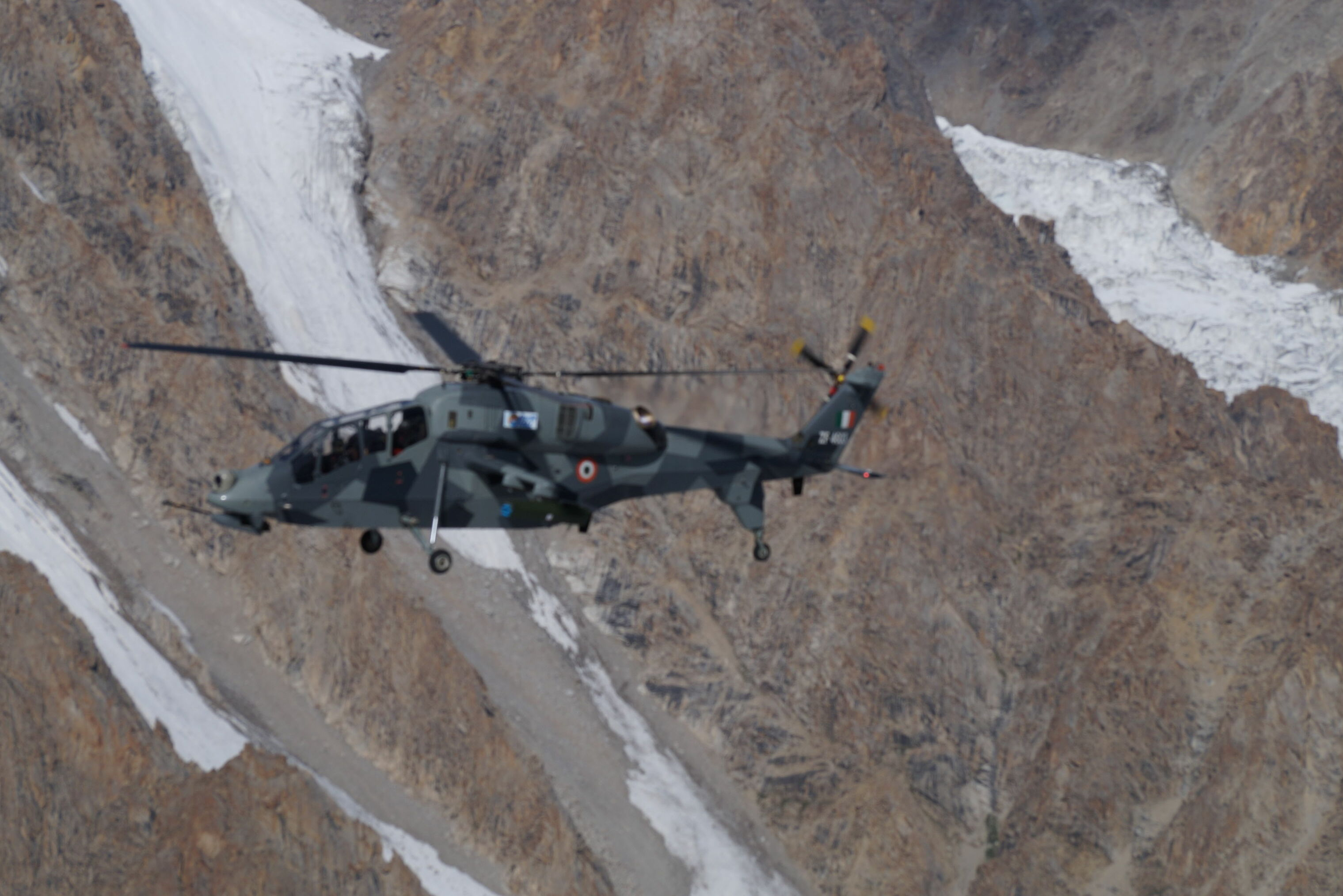 India's Domestically-Produced Armed Helicopter Operating Near Chinese Border