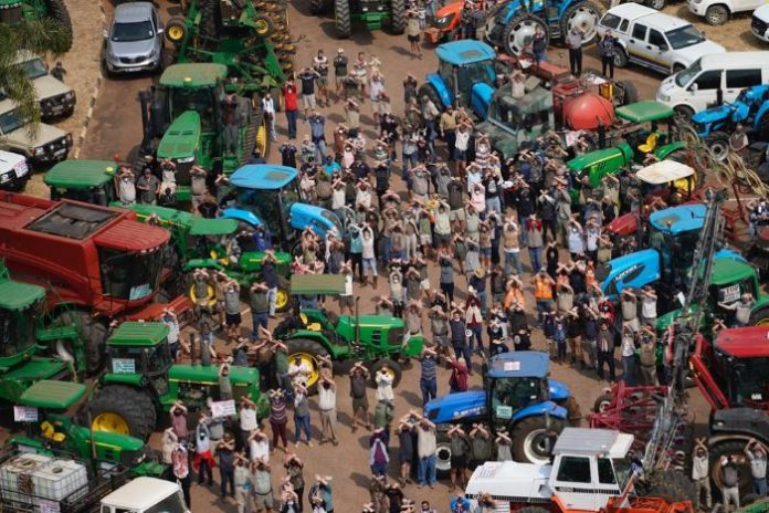 Mass participation march against farm attacks and farm murders, Naboomspruit. Photo's: Oorgrens Veiligheid