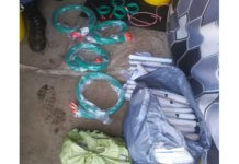 2 Suspects arrested with explosives, Langlaagte. Photo: SAPS