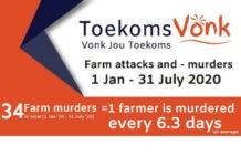 ToekomsVonk's farm attack and farm murder statistics: Jan- July 2020