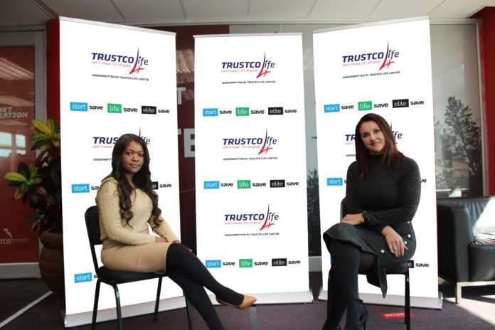 From left to right – Head of Operations: Financial Services Segment, Katrina Basson and Head: Trustco Life, Annette Brand