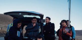 Nanako Fukui 2nd AD, Naomichi Hosoya Director, Kiyoshi Ikemune PM, Akihiro Mitsuishi and Drone DP Matthew Lavin. Photo courtesy of Japanese Producer Noritaka Moriguchi