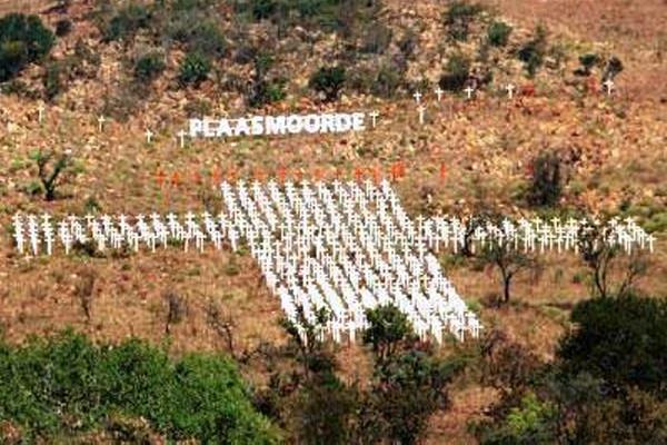 Farm murders: 'White cross monument'- ceremony 18 September 2020