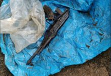 7 Firearms including 3 automatic rifles recovered, Ekombe. Photo: SAPS