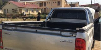 Chase ends in recovery of stolen bakkie and arrest, Tsolo. Photo: SAPS