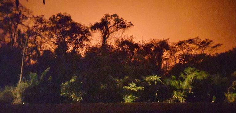 Fire at Ambue Ari. Courtesy of CIWY.