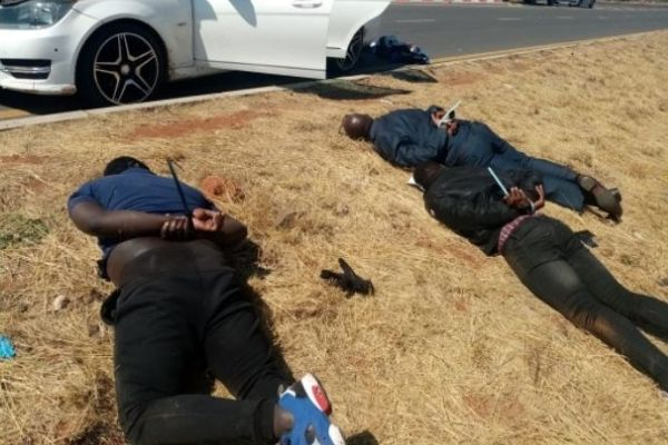 Jacobsdal armed robbery suspects arrested after high speed chase, Kimberley. Photo: SAPS