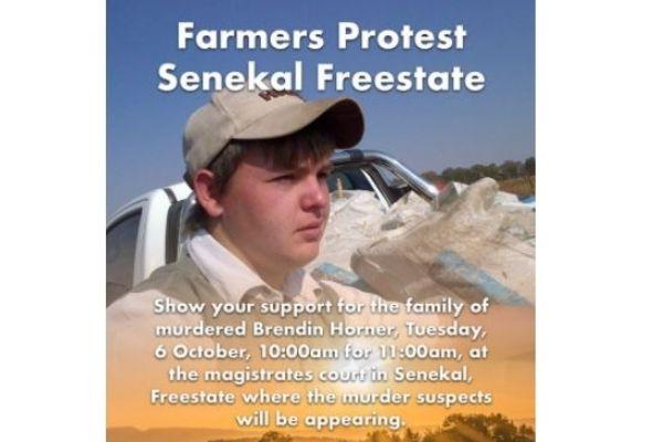 Brendin Horner - Mass protest at Senekal court on 6 October 2020