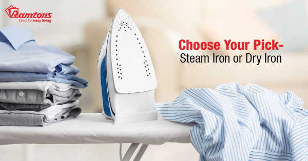 Steam Iron or Dry Iron - Which One to Choose?