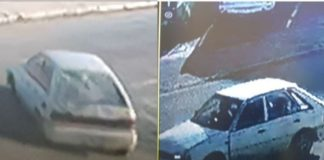 Sidwell robbery and murder, CCTV footage shows get-away vehicle. Photo: SAPS